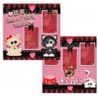 Printed Premade Scrapbooking 2 Page Layouts YOU ARE PUUUR FECT FOR ME VALENTINE