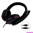Wired PC Gaming Headset Over-Ear Stereo Mic Headphone For Computer Microphone
