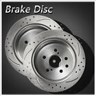 2pcs Rear Left+Right Solid Drilled Slotted Disc Brake Rotor Fit BMW E36 3 Series