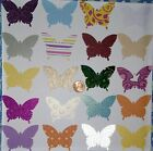 Handmade butterfly punches die cut lot cards scrapbook craft DIY