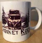 Chimney Rock State Park White with Black and Beige Camper Coffee Mug