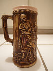 RARE SIGNED MAXINE VINTAGE ANTIQUE GERMAN PEOPLE BEER IPA MUG STEIN POTTERY CUP