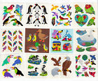 Vintage Sandylion Bird Stickers Glitter Prism Penguin Parrot Swan You Choose