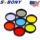 US 125 Moon Filter+CPL Filter+5 Colorful Filter Set for Telescope Eyepiece New