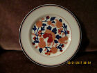 REDUCED FITZ AND FLOYD MANDARIN GARDEN SALAD PLATE WHITE, BLUE AND RUST