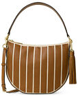 Michael Kors Applique Leather  Canvas Brooklyn Medium Convertible Hobo NWT 328