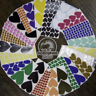 Heart stickers Pick size and color Permanent outdoor glossy vinyl decals