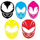 Power Rangers Movie 2017 2 character helmet decal vinyl sticker SINGLE sticker