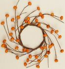 Country Fall Primitive Candle Ring Wreath Mini Pumpkins  4 1/2