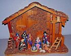 Vintage Christmas Nativity Scene Ceramic 10 piece Large 16