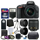 Nikon D5500 Digital SLR Camera Body 3 Lens Kit 18 55mm VR Lens + 32GB Top Value