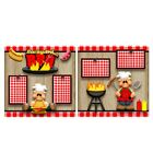Printed Premade Scrapbooking 2 Page Layouts BACKYARD BBQ grilling food pigs