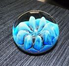 LARGE EICKHOLT 2004 BLUE & CLEAR PAPERWEIGHT SIGNED