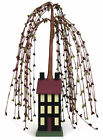 Willow Tree Saltbox House - 18 inch Primitive Country Decor Burgundy Hunter