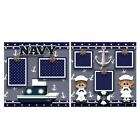Printed Premade Scrapbooking 2 Page Layouts NAVY military ship anchor
