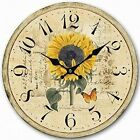 14 inch Sunflower Decorative Wooden Wall Clocks Home Flower Decor Clock by