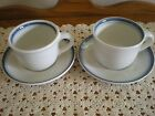 Sky Flat Cup and Saucers - lot of 2 - Pfaltzgraff (USA)