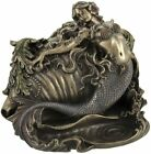 MERMAID  CONCH SHELL RING TRINKET BOX NAUTICAL DECOR Sculpture Figurine Statue