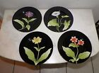 FITZ & FLOYD FLEURS DE MINUIT SET OF FOUR PLATES NEW OLD STOCK UNUSED 7 1/2