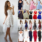 Womens Lace Floral Formal Dress Prom Evening Party Cocktail Bridesmaid Wedding