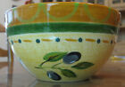 Pfaltzgraff Everyday Soup Bowl Tuscan Olives Green Orange