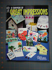 A STAMPEDE OF GREAT IMPRESSIONS BOOK FULL OF RUBBER STAMP TECHNIQUES