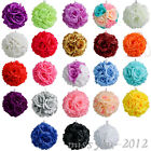 6 Flower Kissing Ball Wedding Silk Rose Party Pomander 20 Colors