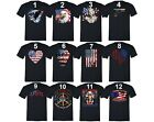 American Flag distressed 4th of July T-shirt Clothing USA Pride Shirt Black