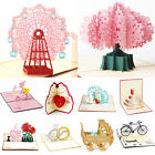 3D Pop Up Cards Valentine Lover Anniversary Wedding Greeting Cards Invitations