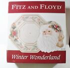 Fitz & Floyd WINTER WONDERLAND 2 pc Serving Set NIB Santa Canape Plate & Platter