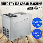 Fried Fry Ice Cream Maker Single Pot Machine Quick Making 58 sec Stainless Steel