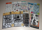 Lot of Clear Stamps  Stencils Art C Tim Holtz Dylusions Recollections