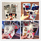 Cute Hello Kitty Ring Holder Stand Soft Mirror Case Cover for iPhone 6 6S 7 Plus