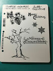 Tim Holtz WINTER SKETCHBOOK Rubber Stamp Cling Mount Set STAMPERS ANONYMOUS
