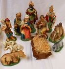 Vintage Large 12 Scale Nativity Set Paper Mache Japan Camel Sheep 3 Kings Cow