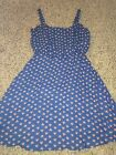 Womens Small Blue Bebop Summer Dress With Hearts Very Cute