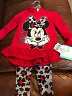 Kidgets Minnie Mouse Toddler Girls Size 18 Months 2 Peice Pants
