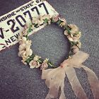 Flower Hairband Beach Party Crown Bride Wedding Headband Floral Headdress