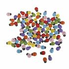 100 Pcs lot Self adhesive Scrapbooking Wooden Ladybug Beetle Sponge Sticker