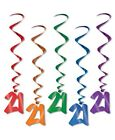 21st Birthday Hanging Swirls 5 Piece Set Birthday Party Decorations