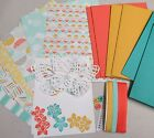 Stampin Up BEST YEAR EVER DSP PAPER CARD KIT Ribbon Buttons Butterfiles Flowers