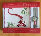 Fitz Floyd Christmas Snack Cheese Plate Spreader Mingle Jingle Be Merry Santa