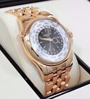 Patek Philippe 5130/1R 18K Rose Gold World Time Automatic Silver Dial BOX/PAPER