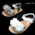 New baby infant toddler girl cute sandals shoes whitesilver color size 1 6