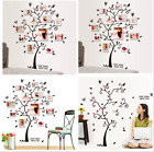 USA Family Tree Wall Decal Sticker Large Vinyl Photo Picture Frame Removable