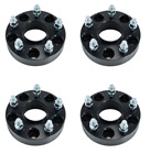4 Black Hubcentric 15 inch Wheel Spacers 5x5 Jeep Wrangler JK 2015 2016 2017