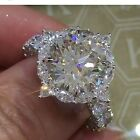 New 925 Silver White Sapphire Birthstone Engagement Wedding Jewelry Ring Sz 6 10