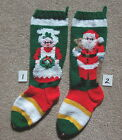 Nancy's Hand Knit Personalized Christmas Stocking -#1 MRS or  #2 SANTA