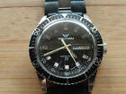 Vintage Waltham Mens Divers Watch 25 Jewels Automatic Day/Date Running Excellent