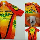 De Marchi Cycling Jersey Peugeot Ag2r Prevoyance Red Orange Yellow Size Medium